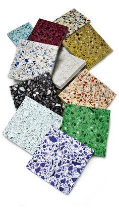 Terrazzo Sample Colors - kitchen or bath floor?