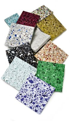 Terrazzo Sample Colors - kitchen or bath floor?
