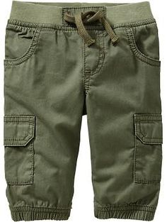 Elasticized-Cuff Cargo Pants for Baby
