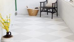 How to Paint a Concrete Floor | remodelaholic.com #paintit #flooring #concrete @Remodelaholic .com