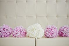 Pink and white peony bouquets (1313 Photography)