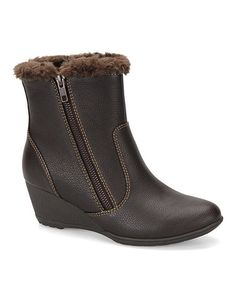 Take a look at this Dark Brown Odele Wedge Boot by Softspots on #zulily today!