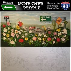 Highway Move Over Law Oil Painting Move Over, Dont Text And Drive, Avoid People, Distracted Driving, Save Life, Easel, Safety, Medical, Touch