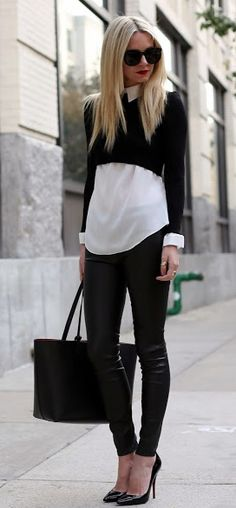 Such a chic way to layer a crop!