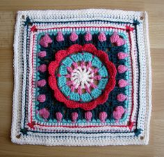 Ravelry: Spring Rolls - April block for WWBAMCAL pattern by Donna Kay Lacey