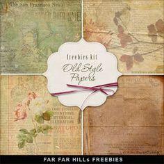 Far Far Hill: Freebies Old Style Backgrounds Kit. Click on link for freebie http://farfarhill.blogspot.ca/2013/04/freebies-old-style-backgrounds-kit.html?m=1