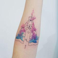 Tatuagem criada por Jacke Michaelsen de Curitiba. Nossa senhora da queridíssima Amanda Obrigada!