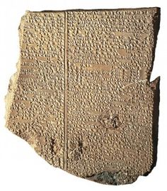 Babylonian Flood tablet: George Smith scoured the museum's holdings for further fragments, and soon found that his Flood tablet was the 11th tablet in a 12-tablet epic poem. On December 3, 1872, he presented his findings to the newly founded British Society of Biblical Archaeology and speculated that more of these tablet fragments remained buried in the sands of Nineveh.