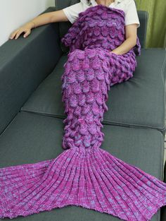 SHARE & Get it FREE | Hot Sale Knitting Fish Scales Design Mermaid Tail Style BlanketFor Fashion Lovers only:80,000+ Items • New Arrivals Daily • Affordable Casual to Chic for Every Occasion Join Sammydress: Get YOUR $50 NOW!