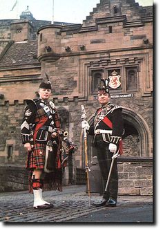 Pipe Major and drum Major, c 1970