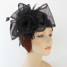 New Woman Kentucky Church Derby Wedding Sinamay Pillbox Dress Hat SDL-009  Black  Fascinator 664c239a1a39