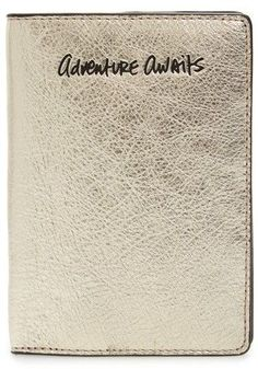 Rebecca Minkoff Adventure Awaits Passport Case - Metallic