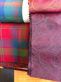 Tartan chosen for a bespoke suit with paisley lining at Kilts4all.com