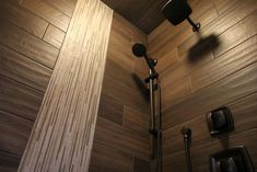Shower Accent Tile: Calypso, Suites Bricks Beige; Shower Main Tile: Saddlebrook, Walnut 6x36