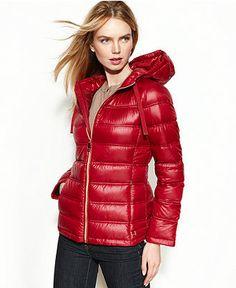 Calvin Klein Coat, Packable Hooded Quilted Puffer - Coats - Women - Macy's