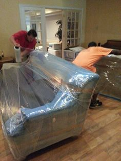 Blanket And Shrink Wrap All Furniture!! #icannmove.com