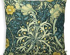William Morris Kelmscott Tree Forest /& Gold Bolster Cushion Cover