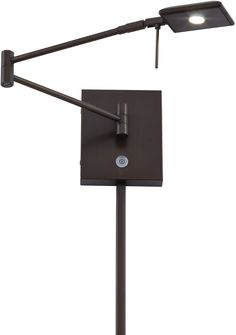 George Kovacs P4328 647 Georges Reading Room Swing Arm Wall Sconce Light LED