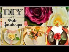DIY | Como fazer porta guardanapo floral - YouTube