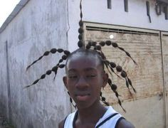 """1.) This guy was like, """"Make my hair exactly how cartoon characters with dreads have them."""""""
