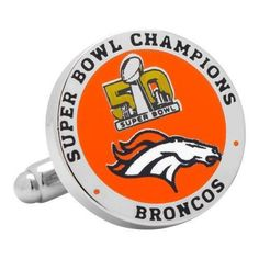 Men's Cufflinks Inc 2016 Denver Broncos Super Bowl Champions Cufflinks