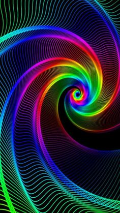 Crazy Wallpaper, Live Wallpaper Iphone, Rainbow Wallpaper, Iphone Background Wallpaper, Colorful Wallpaper, Colorful Backgrounds, Cool Optical Illusions, Beautiful Fantasy Art, Silk Art
