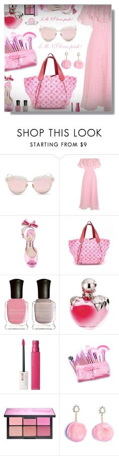 """LMNT loves pink - Contest!"" by sarahguo ❤ liked on Polyvore featuring LMNT, Temperley London, Sophia Webster, Deborah Lippmann, Nina Ricci, Maybelline, NARS Cosmetics and BillyTheTree"
