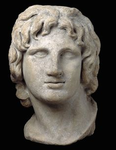 Marble portrait of Alexander the Great, Hellenistic Greek, 2nd-1st century B.C.E.,37cm high, Alexandria, Egypt © Trustees of the British Mus