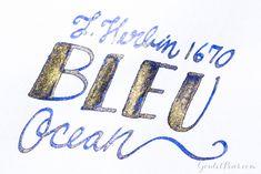 Goulet Pens Blog: Make Waves with J. Herbin Bleu Ocean 1670 Anniversary Ink