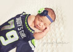 SEAHAWKS Headband - Blue and Green Shabby Flower Headband, Baby Headband, Newborn, Flower Headband, Seahawks' Colors, NFL, Seattle, 12th Man on Etsy, $8.00