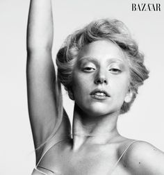 Lady Gaga Strips Down For Harper's Bazaar's October Issue (PHOTOS)