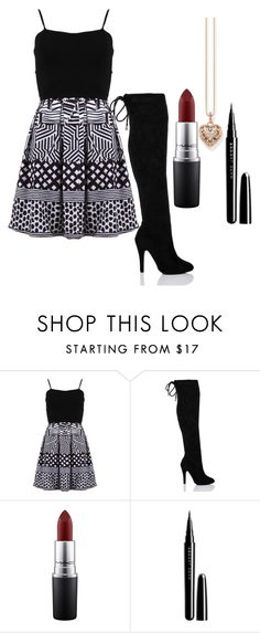 """""""Iridescent"""" by i-dont-want-to-go ❤ liked on Polyvore featuring FRACOMINA, MAC Cosmetics, Marc Jacobs and Thomas Sabo"""