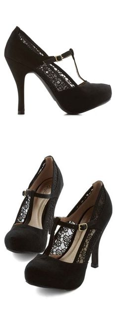 I need a love button for these!  Gander at Glamour Heel in Black