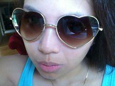 ♥ my retro heart sunglasses!