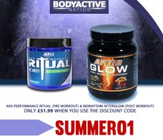 This weeks special offer combines two of our top selling supplements; The incredible pre-workout, ANS Ritual, and the formidable Post-workout, Afterglow.  Get both for just £51.99 (whilst stocks last) http://www.bodyactive-nation.co.uk/kit-train-2-gain-kit