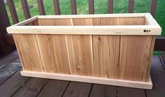 Planter Box.   Made from cedar fence pickets and cedar deck spindles.   Material cost per planter is about $15.   I came up with the plans on my own.