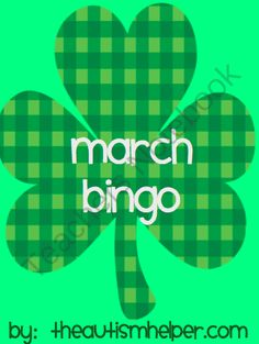 March Bingo from The Autism Helper on TeachersNotebook.com -  (26 pages)  - This set includes a monthly bingo game for March. The game includes 20 boards and calling cards for 2 levels of play. This bingo game includes an easy version of calling cards with just pictures and vocabulary to work on picture identification and vocabul