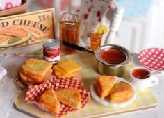 Miniature Making Grilled Cheese Sandwiches by CuteinMiniature