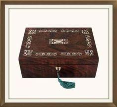 Beautiful Antique Victorian Rosewood Jewellery Box. £225. http://www.theoldjewelleryboxshop.co.uk/prod2.cfm?product=91326