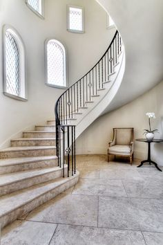 Sweeping staircase Inner City Skyline - 855-751-4663 Contractor