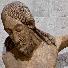 Crucifix from St George. Cologne, last third of cent. Geometric Sculpture, Sculpture Art, St Georg, Art Roman, Sacred Art, Bible Art, Christian Art, Baroque, Sculpting