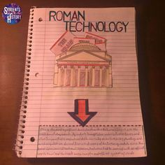Engaging Interactive Notebook for Ancient Rome includes 16 pages of interactive foldables on Rome!