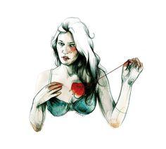 """Cor Mort"" by Paula Bonet. Paula Bonet, Love Of Lesbian, Portraits, Love Illustration, People Illustration, Foto Art, Art Sketchbook, Les Oeuvres, Illustrations Posters"