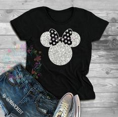 Minnie Mouse Glitter // T-shirt or Tank Top // Sweatshirt // Hoodie // Disney shirts // Mouse shirts // Glitter Minnie // Magic Kingdom - Inspirational T Shirts - Ideas of Inspirational T Shirts - Disney World Outfits, Disney World Shirts, Disney Inspired Outfits, Disney Shirts For Family, Disney Style, Disney Fashion, Couple Shirts, Disney Family, Travel Shirts