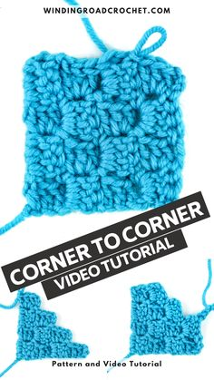 Learn to decrease in corner to corner crochet with this easy to follow video tutorial and crochet charts.