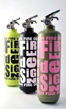 Eh, you know, just putting my fire out with this handy dandy designer fire extinguisher.  No big deal.