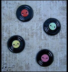 Record Charms by LastStringOfLovely.deviantart.com