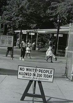 THE ZOO WOULD BE CLOSED TO WHITES SO BLACK FAMILIES COULD VISIT THE ZOO!   (REALLY!)