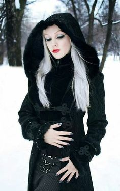 beautiful hooded coat. wish i knew where to get something like this.