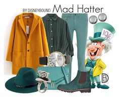 """""""Mad Hatter"""" by leslieakay ❤ liked on Polyvore featuring Tory Burch, Forever 21, Call it SPRING, San Diego Hat Co., Burton, Kenneth Jay Lane, disney, disneybound and disneycharacter"""